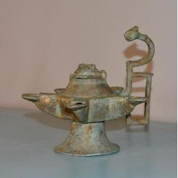 Antique lampe à huile en...